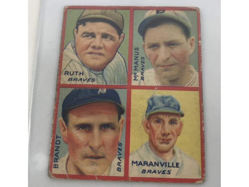 1935 Goudey 4 In 1 Babe Ruth/maranville