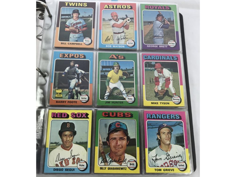 1975 Topps Baseball Complete Set Brettyount Rcs