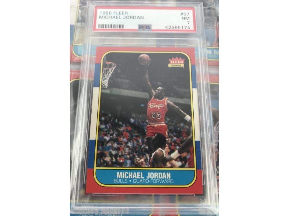 86 Fleer Basketball Set W/ Stickers-psa Jordan Rc