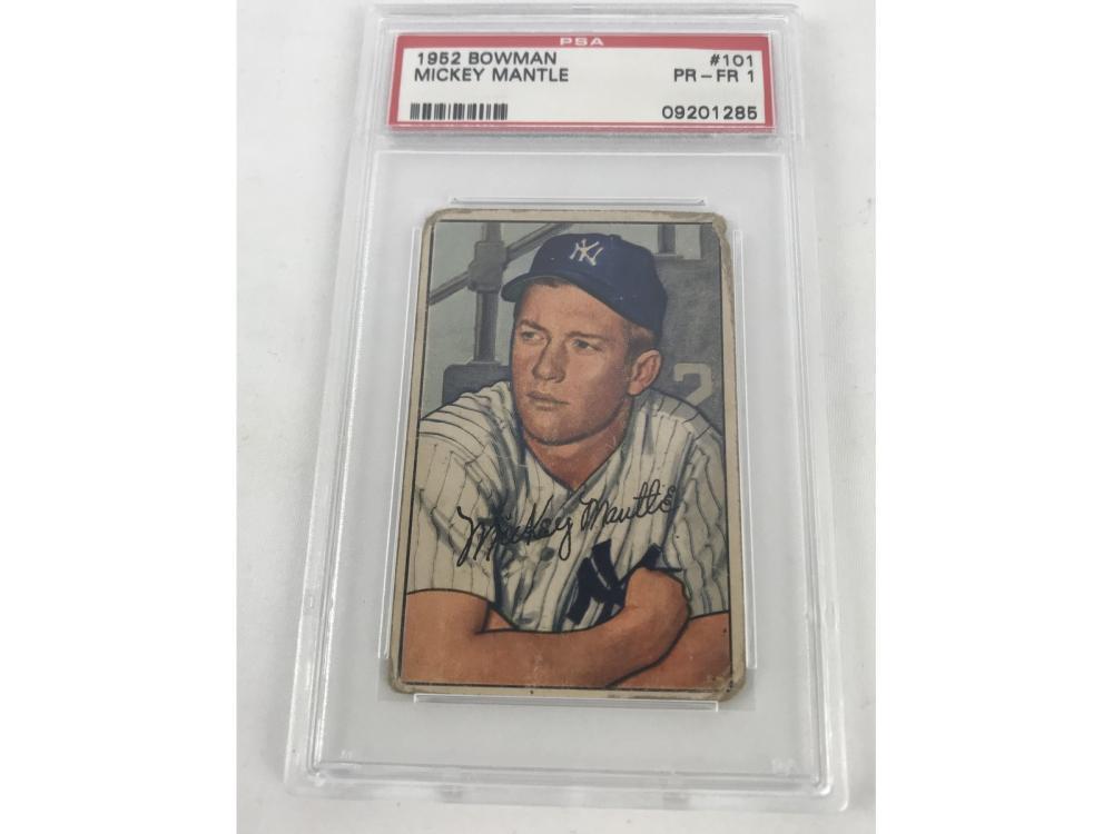 Psa 1-1952 Bowman Mickey Mantle #101