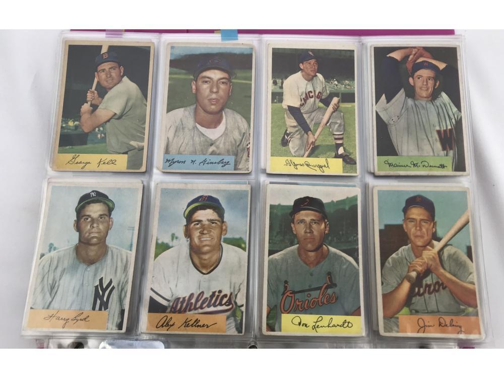1954 Bowman Baseball Complete Set
