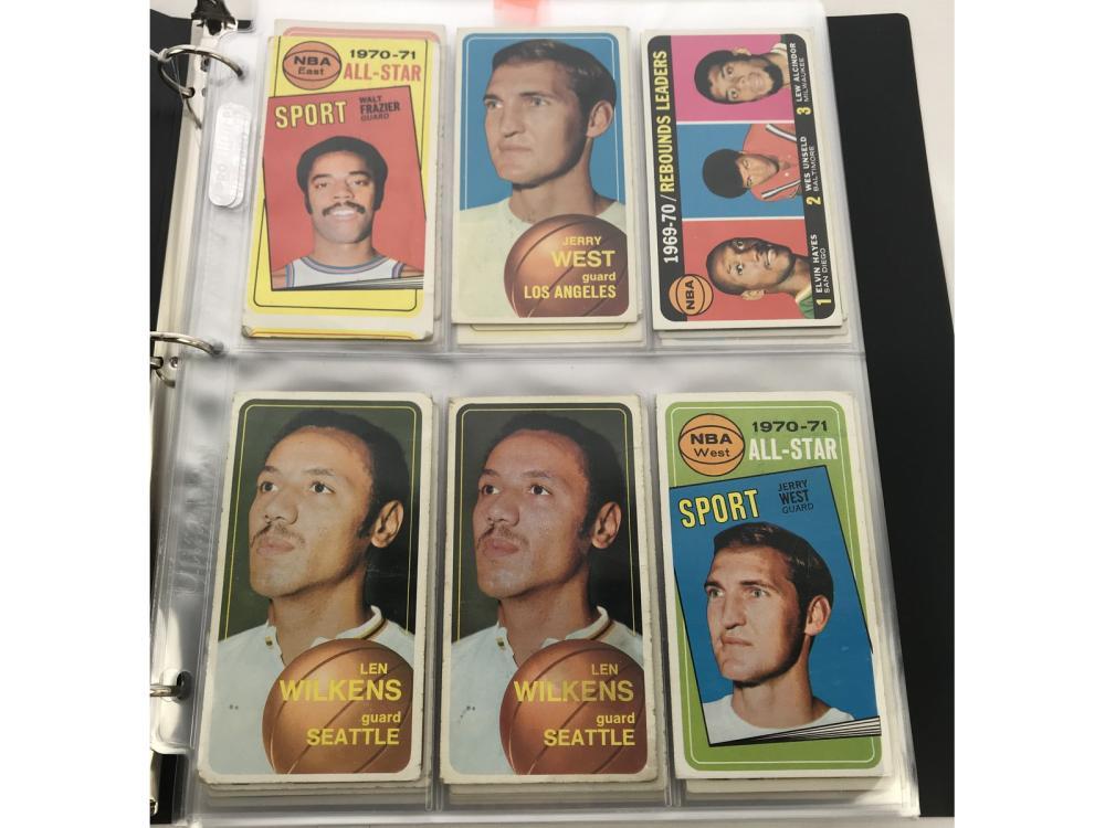 (120) 1970 Topps Basketball Hofs/stars/rcs/sp
