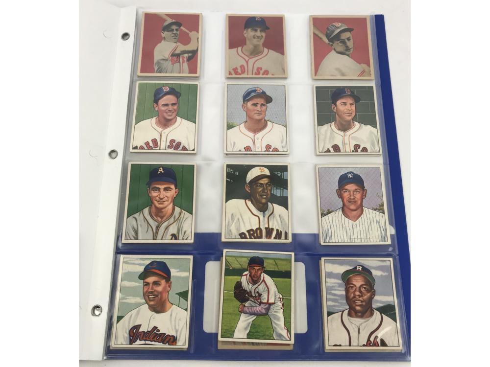 (24) 1948-1950 Bowman Baseball-hofs/rcs