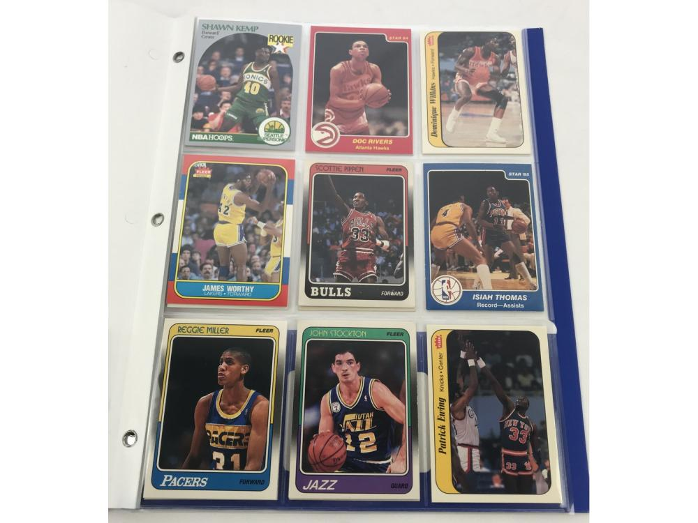(18) Basketball Star/hofs Rookie Cards/stickers