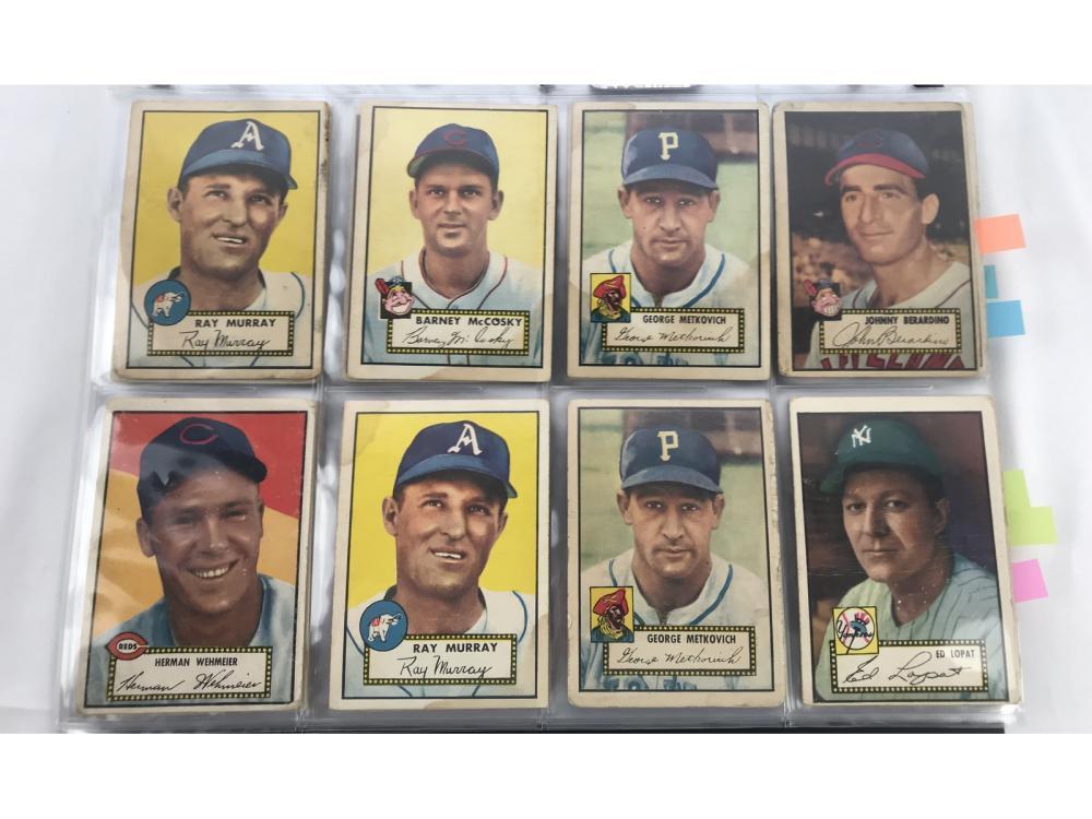 (132) Mixed Grade 1952 Topps Group Bv $6,520