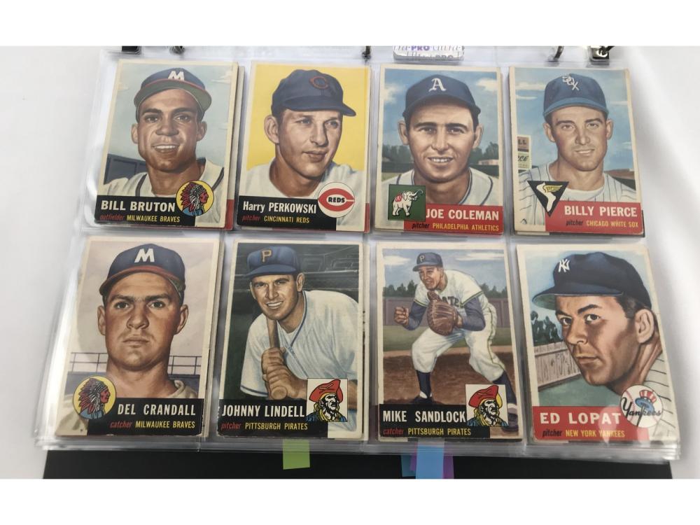 (82) (ex) 1953 Topps Baseball-sp/dp - Bv $2,015
