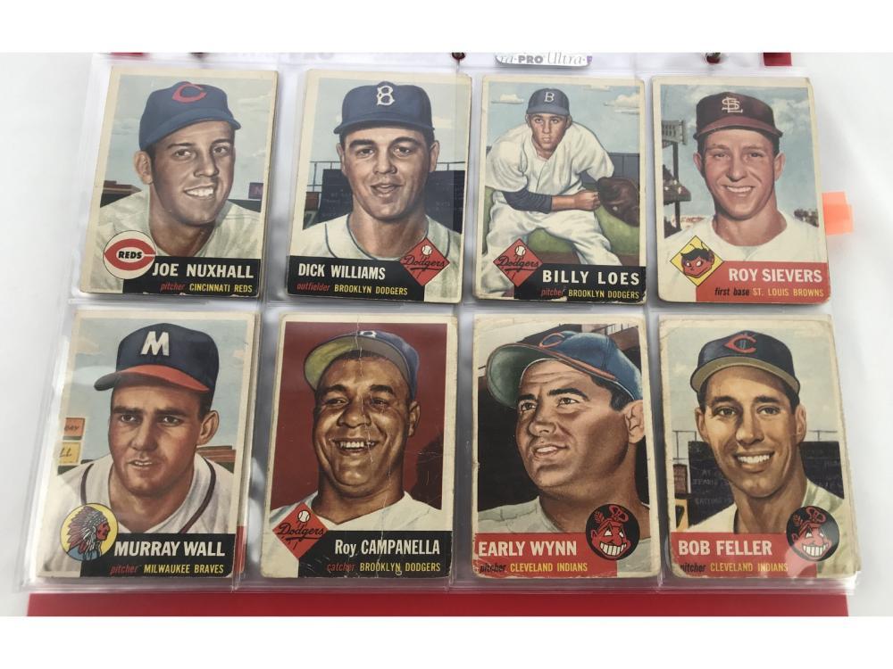 (88) Estate Collection 1953 Topps Baseball (hofs)