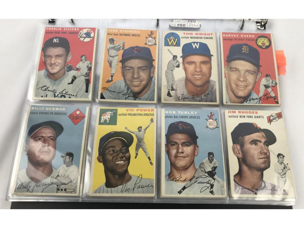 (114) (ex) 1954 Topps Baseball Bv $2,120