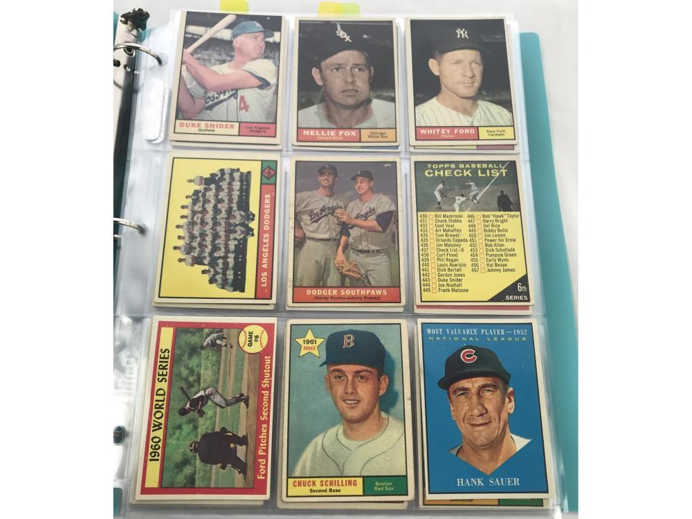 (234) 1961 Topps Baseball Lot W/ Hofs/rcs