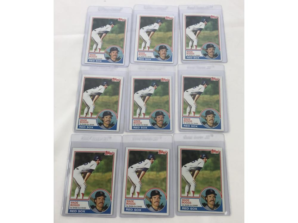 (9) Mint 1983 Topps Wade Boggs Rookies