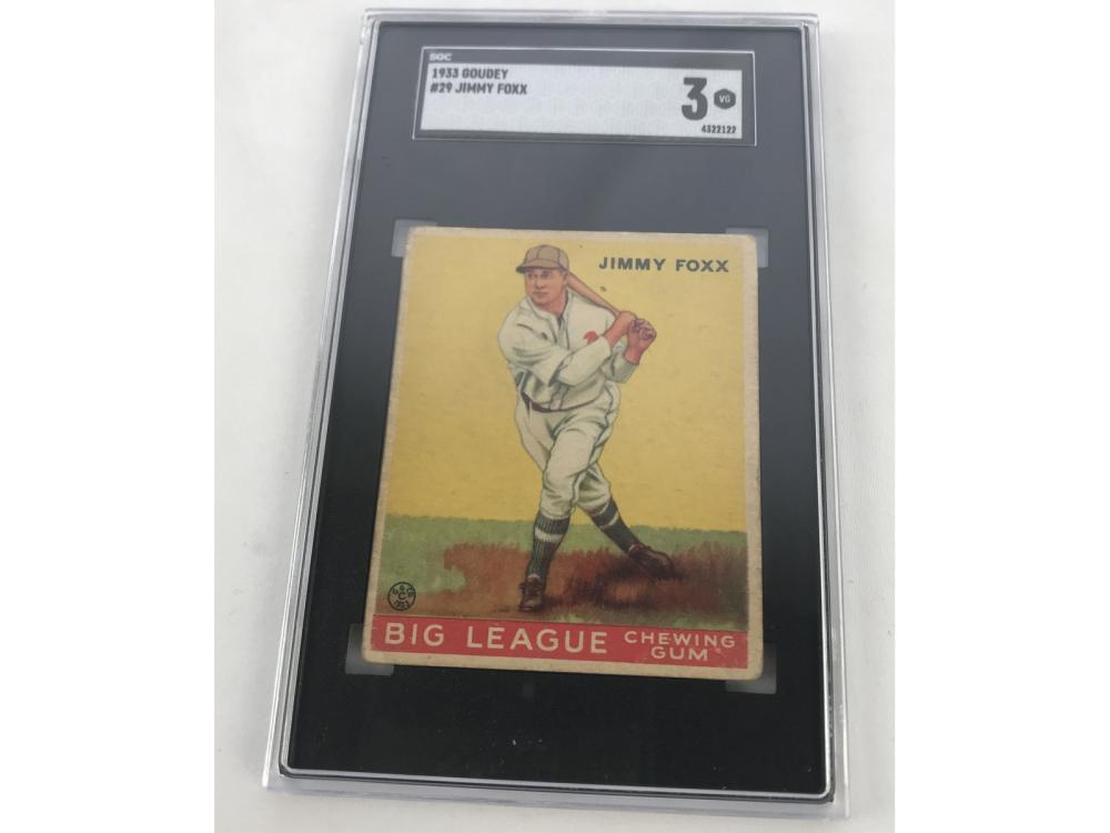 Sgc 3-1933 Goudey Jimmy Foxx #29