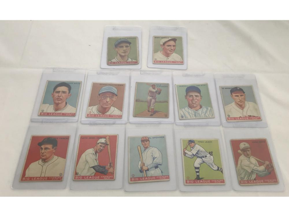 (12) 1933 Goudey Baseball (vg-ex To Ex)
