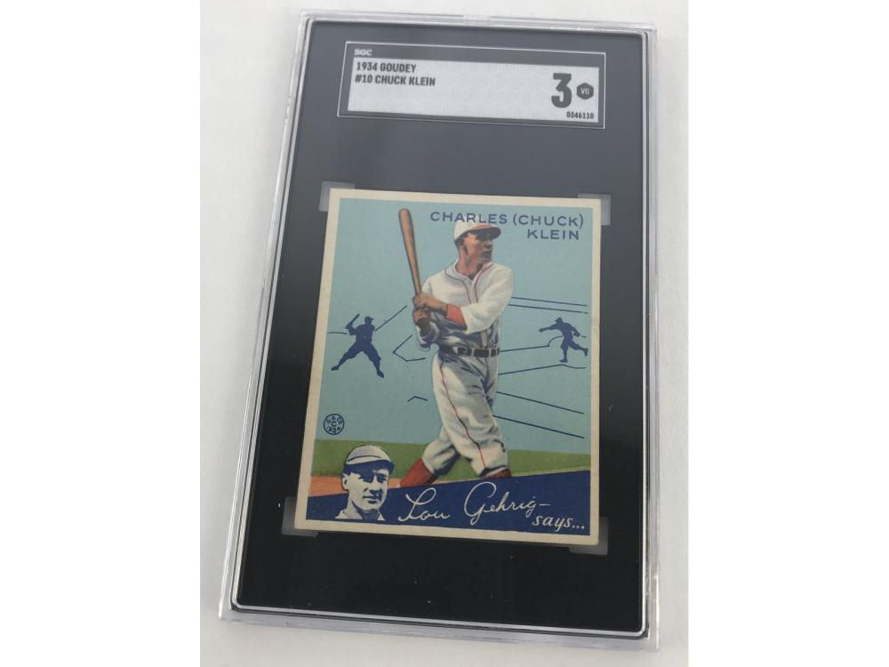 (hof) Sgc 3 1934 Goudey Chuck Klein #10