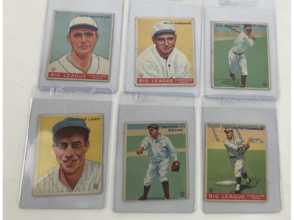 (6) 1933 Goudey Baseball (ex To Ex-mt)