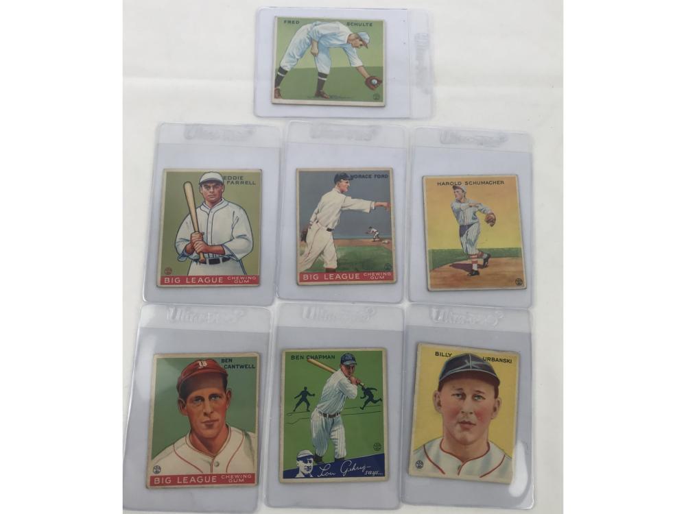 (7) 1933 Goudey Baseball (ex To Ex-mt)