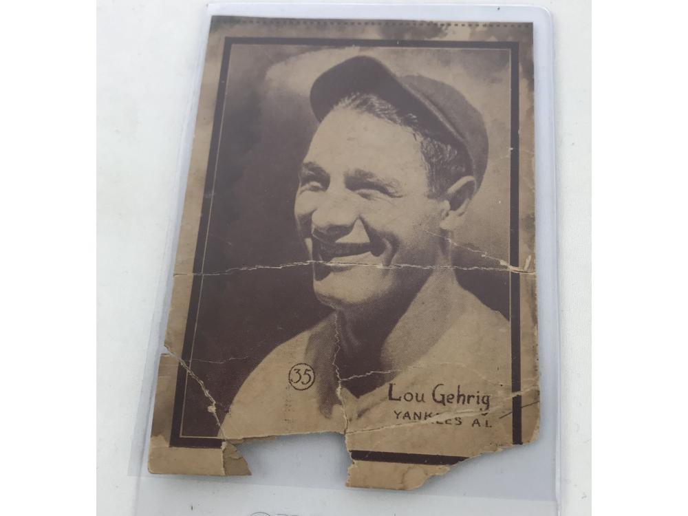 1931 W517 Lou Gehrig Strip Card