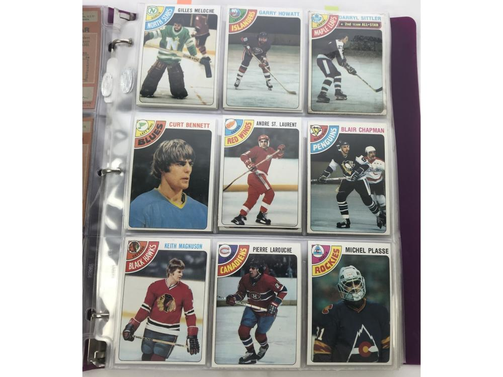 1978 & 1979 Topps Hockey Sets (survived House Fir)