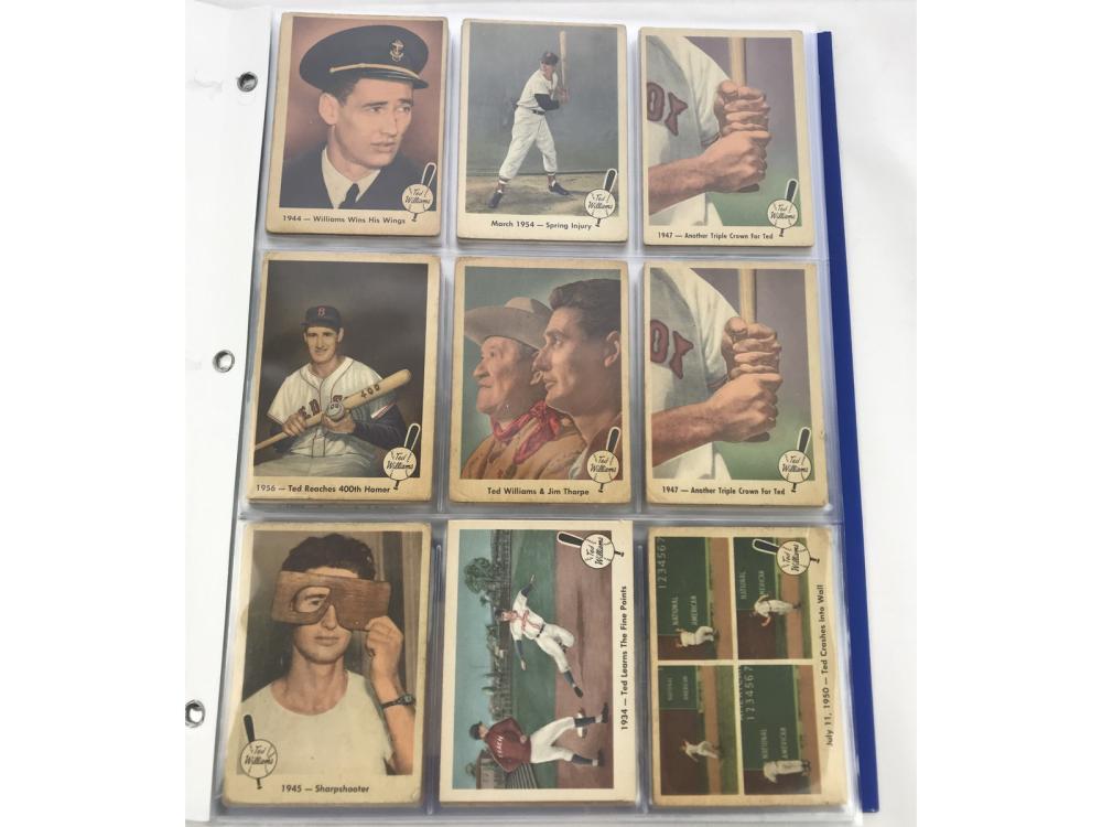 1959 Fleer Lot Of 52 Fleer Ted Williams Cards