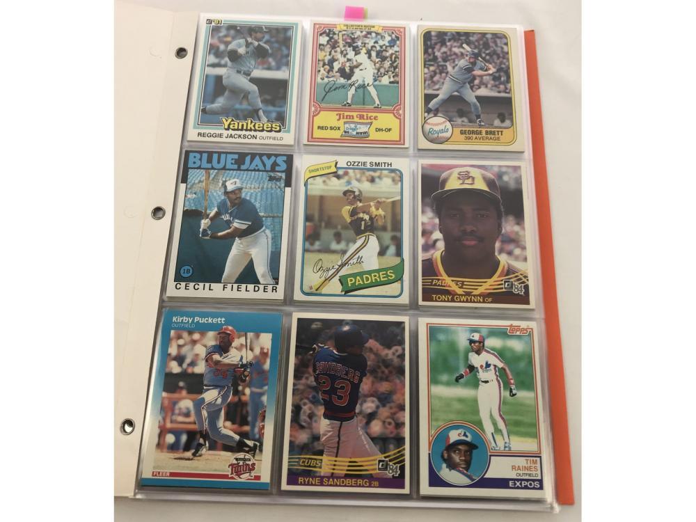 (99) 1980s Baseball Hofs/stars/rookies