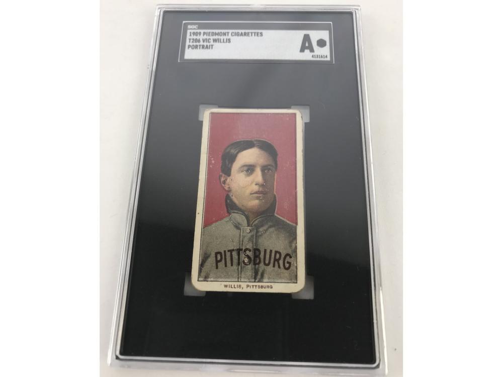 Sgc A 1909 T206 Piedmont Vic Willis (portrait)