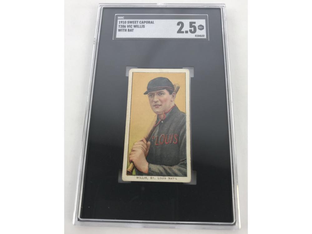 Sgc 2.5-1910 T206 Piedmont Vic Willis (w/bat)