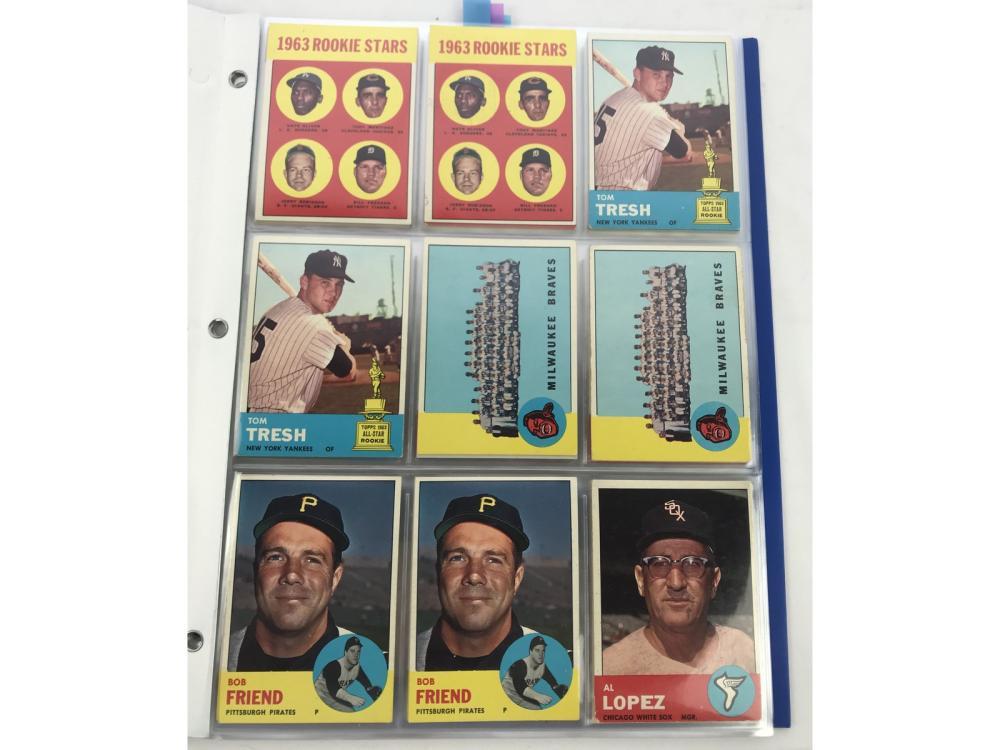 (78) 1963 Topps Semi-high #s Bv $2,190