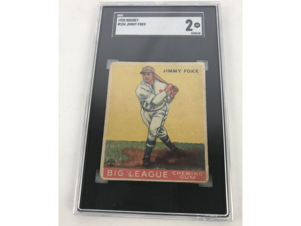 Sgc 2-1933 Goudey Jimmy Foxx #154