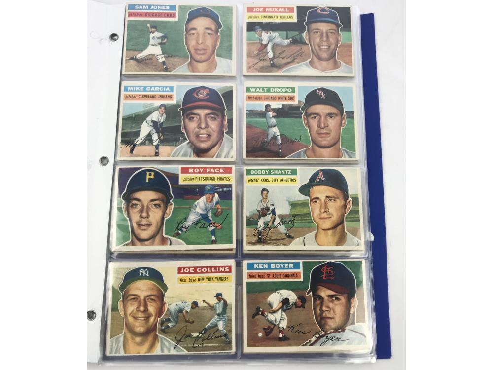 (40) (ex-mt) 1956 Topps Baseball Bv $568