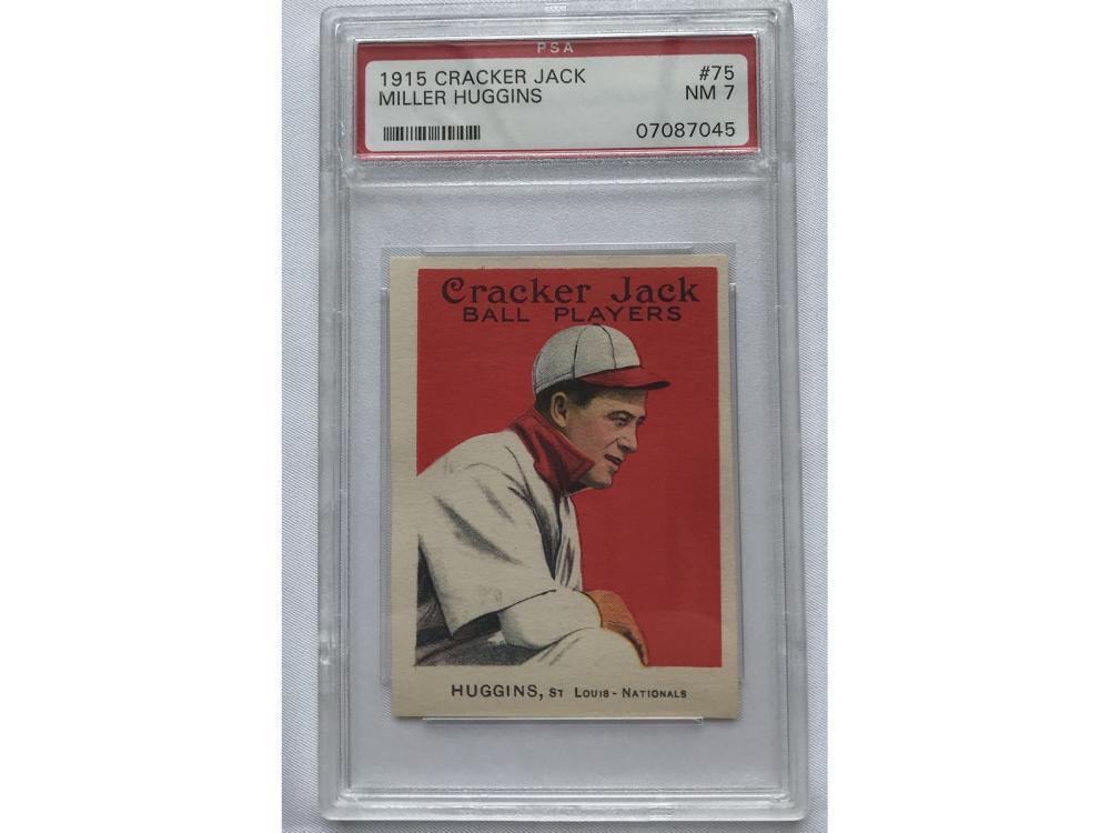1915 Cracker Jack Miller Huggins Psa 7