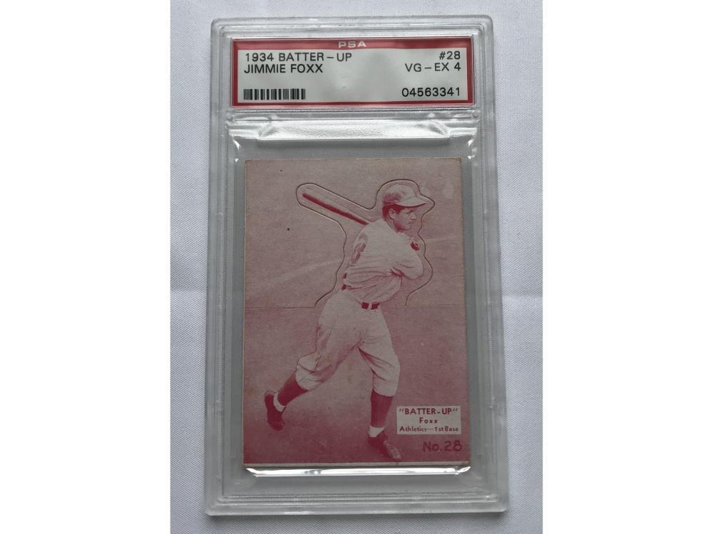1934 Batter Up Jimmie Foxx Psa 4