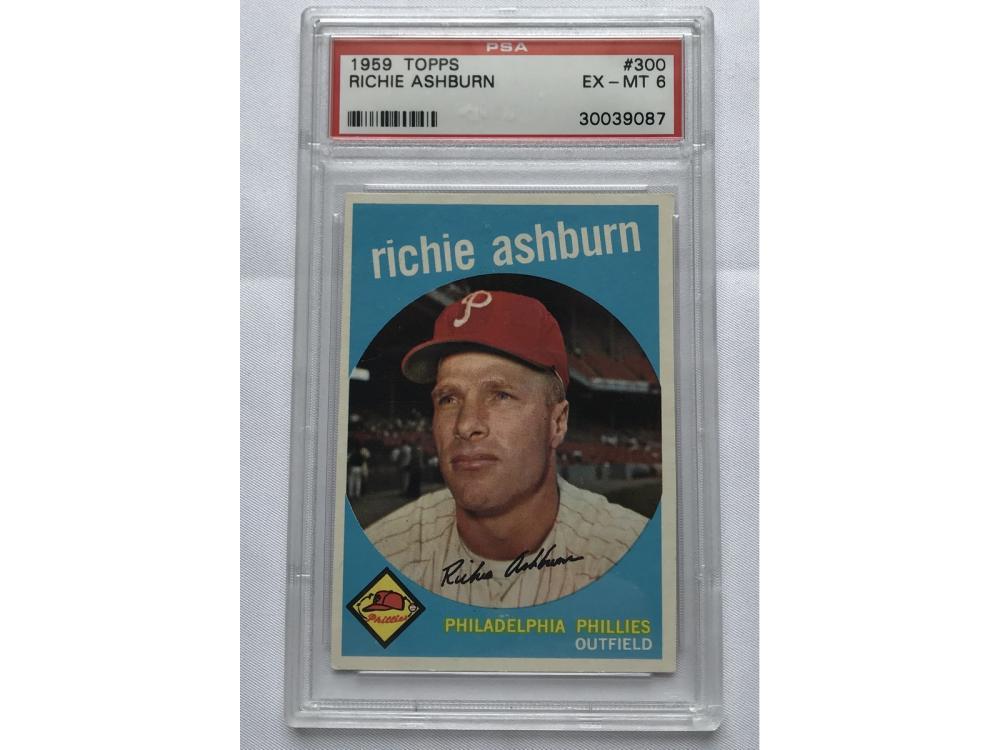 1959 Topps Richie Ashburn Psa 6