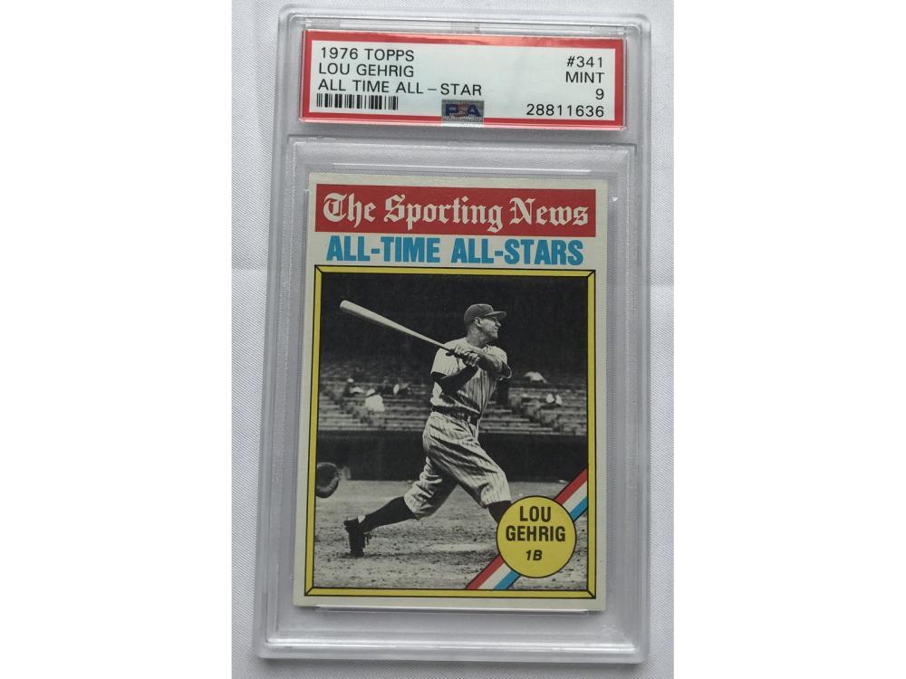 1976 Topps Lou Gehrig Psa 9