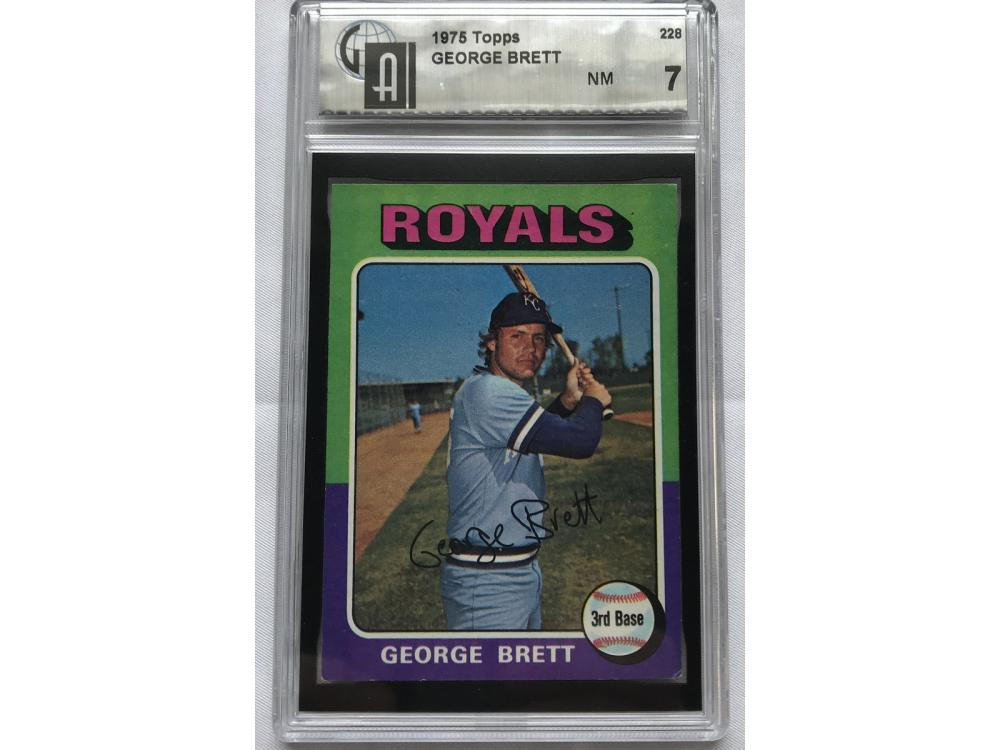 1975 Topps George Brett Gai 7