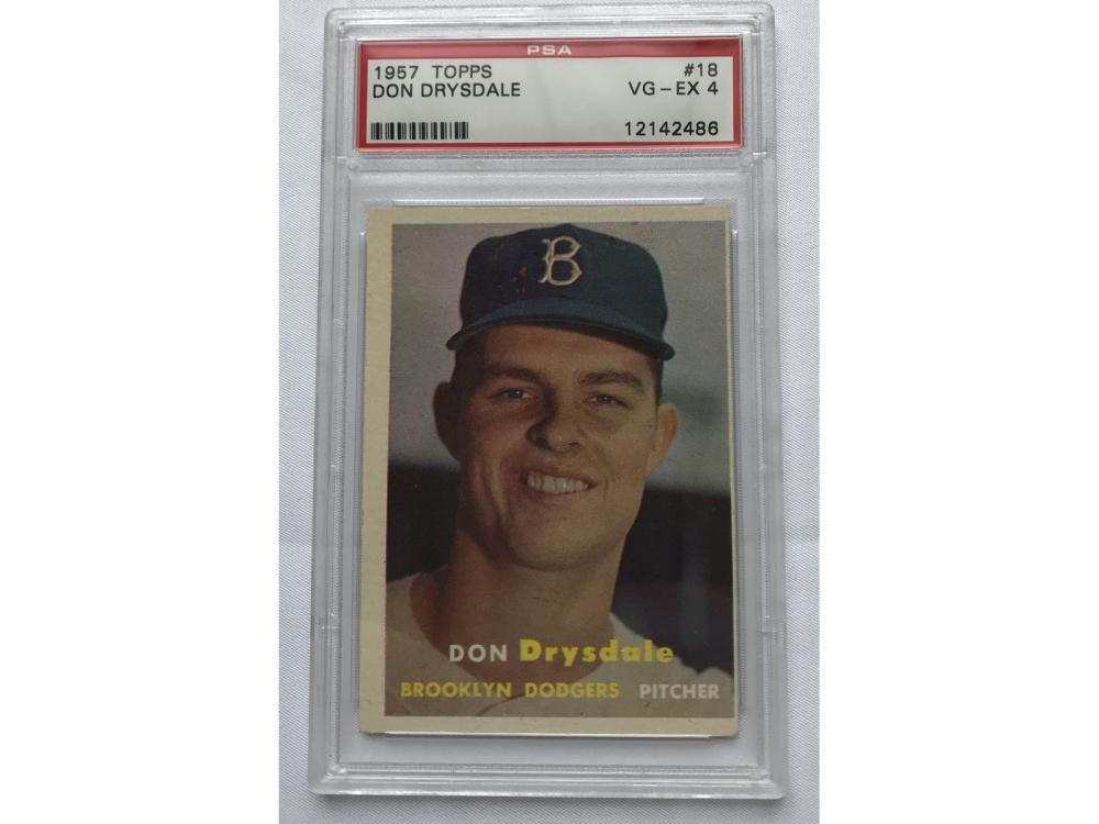 1957 Topps Don Drysdale Rookie Psa 4