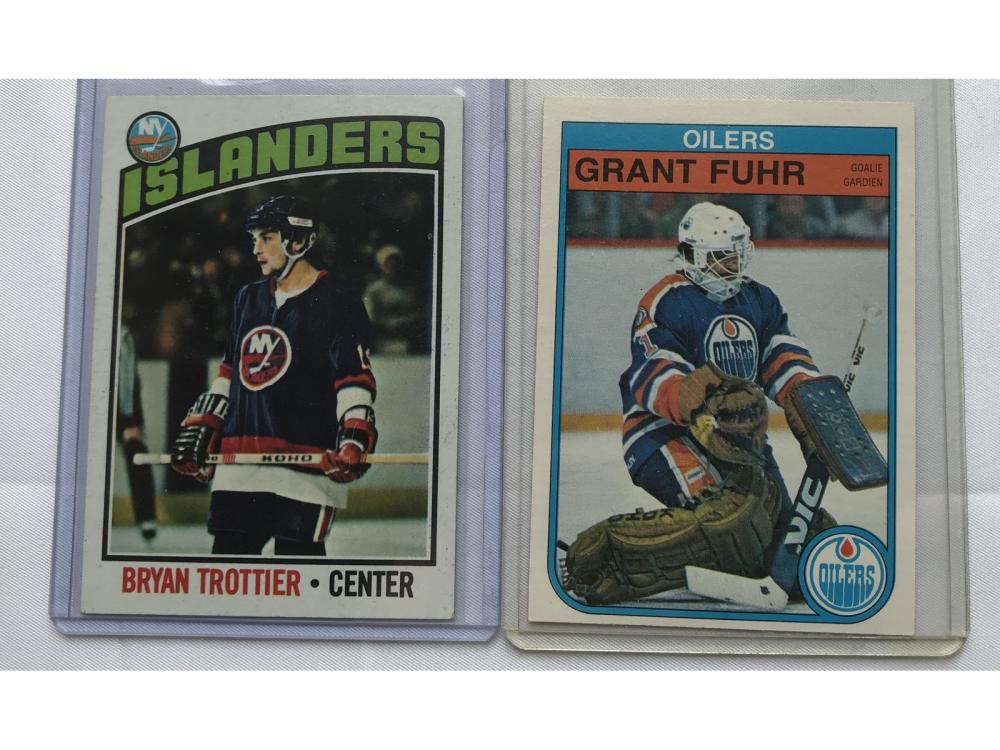 Pair Of Hockey Rookies Fuhr And Trottier