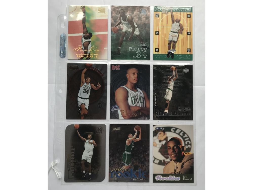 9 Near Mint Paul Pierce Rookie Cards