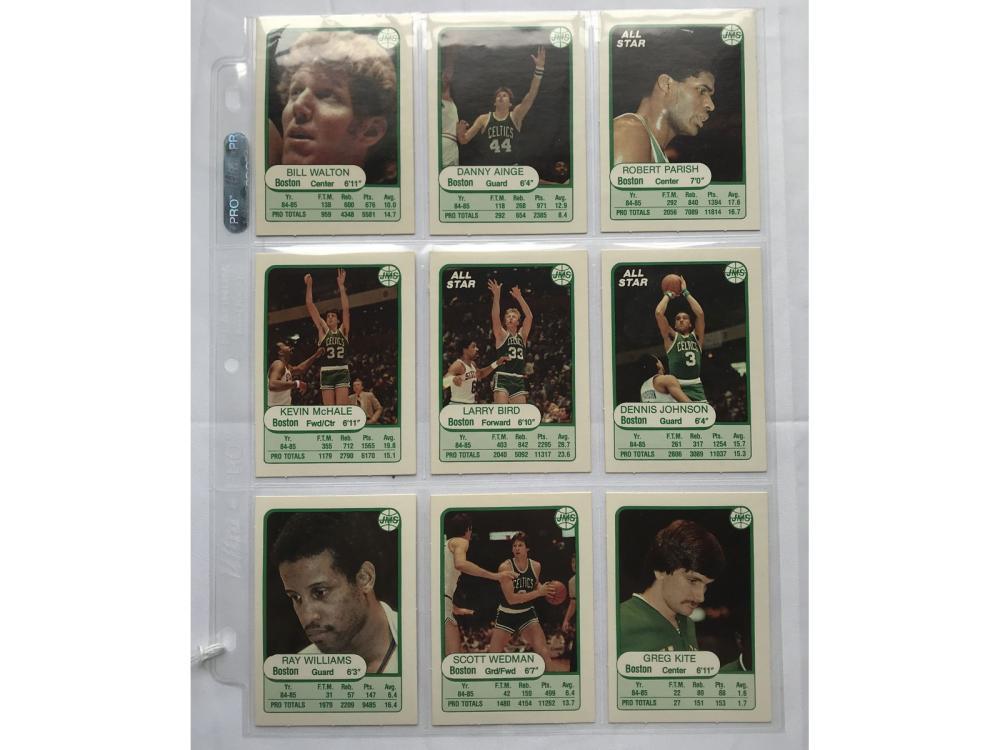 1985 Jmc Boston Celtics Team Set 9 Cards