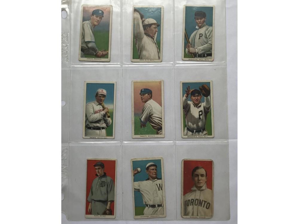 9 T206 Cards Polar Bear, Tolstoi,american Beauty