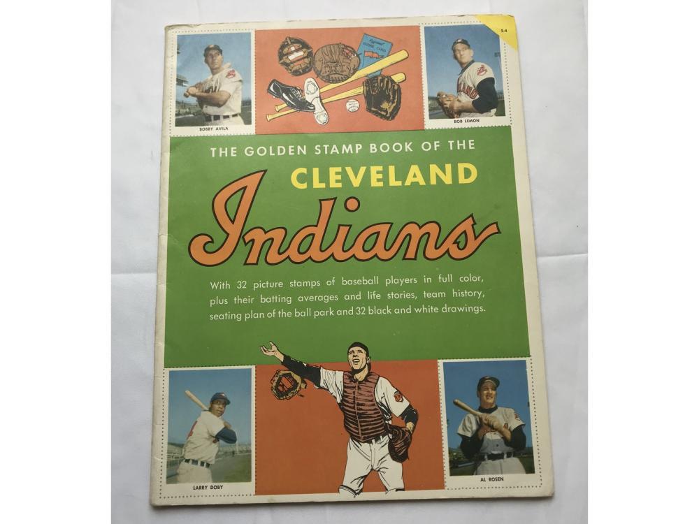 1955 Golden Stamp Book Cleveland Indians
