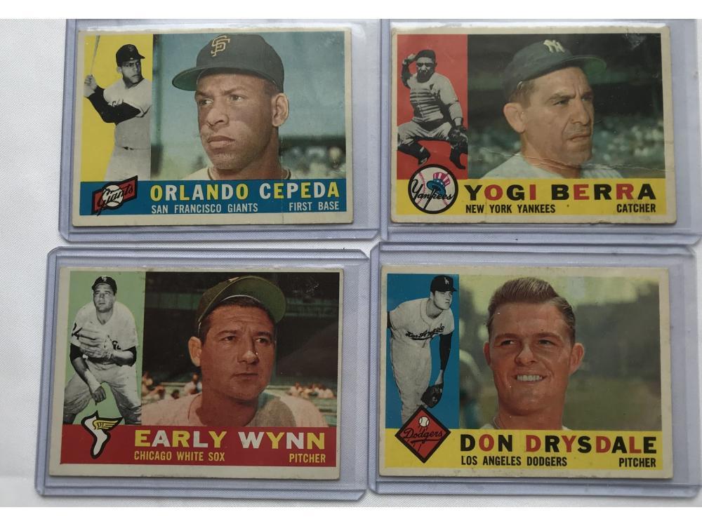 Four 1960 Topps Stars/hof