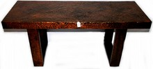 Copper foil designer table 48