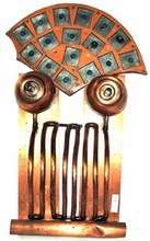 Heavy copper with galvanized tin depicting