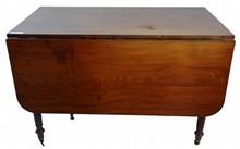 Period Walnut drop-leaf table 45