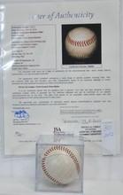 1965 Washington Senators Signed Ball JSA COA