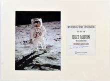 Buzz Aldrin Signed Display Piece