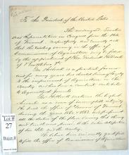 1860-70's Letter From Senators To The President