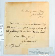 1814 Personal Letter Charles Pelham