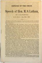 1861 Defense Of The Union Speech Ms Latham