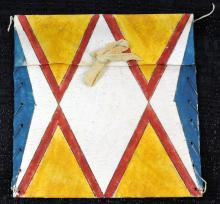 Two Rawhide Sioux Art Pieces From Museum