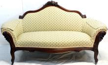 Victorian Walnut Settee Grape Back Sofa and Chairs